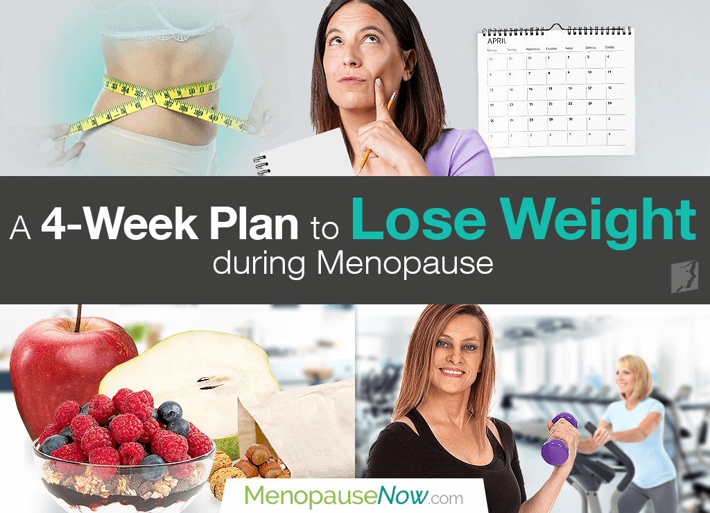 A 4 week plan to lose weight during menopause