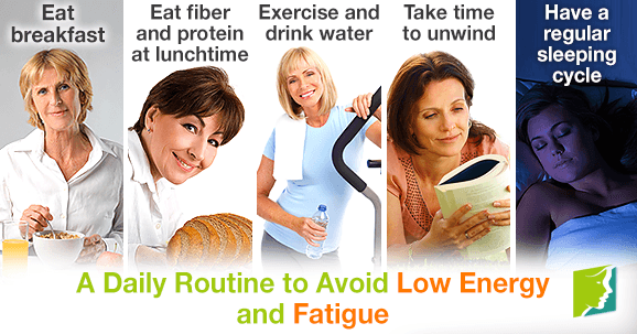 A daily routine to avoid low energy and fatigue