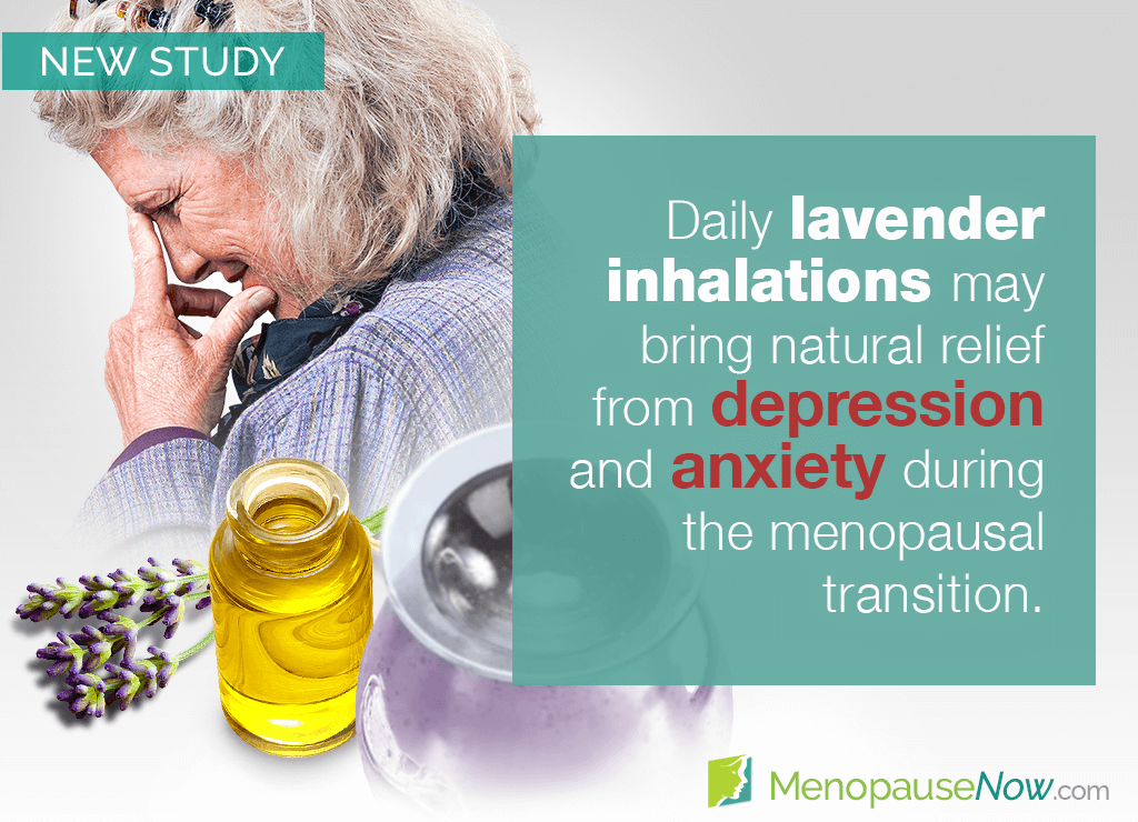 Study: Lavender aromatherapy for postmenopausal depression and anxiety