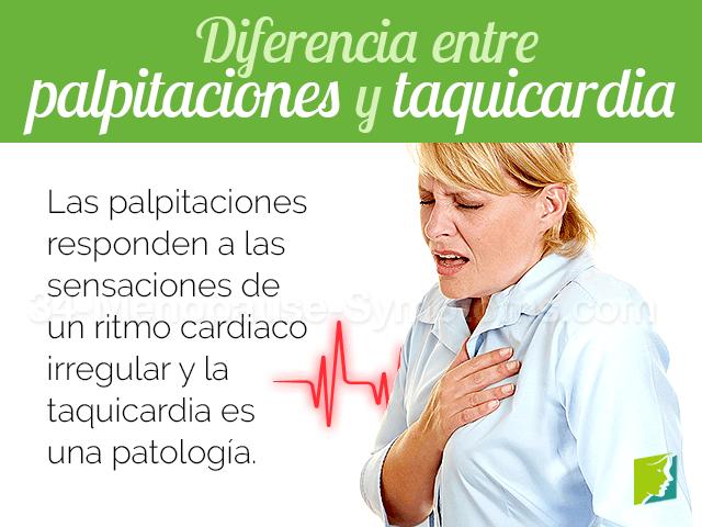 Diferencia entre las palpitaciones y taquicardia