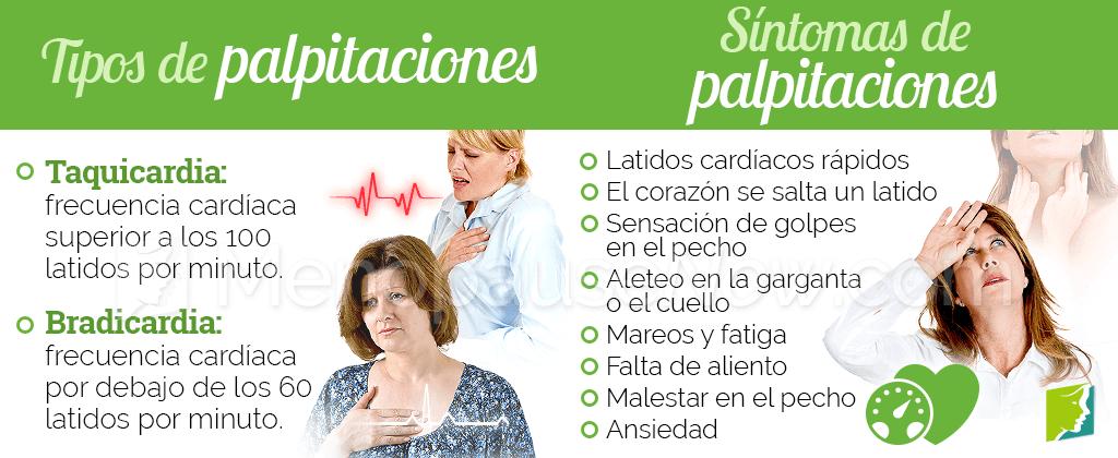 Tipos y síntomas de palpitaciones