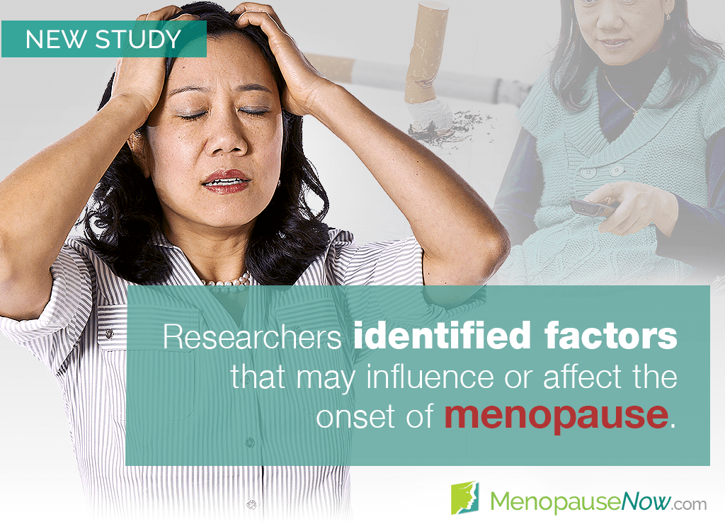 Study: Certain factors may affect age at menopause onset