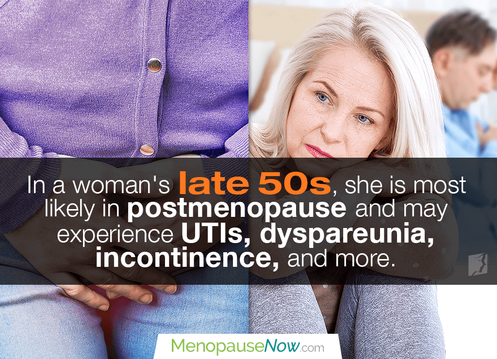 Menopause Symptoms: Late 50s