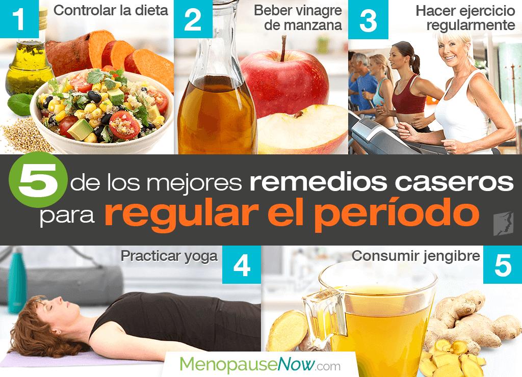 5 de los mejores remedios caseros para regular el período