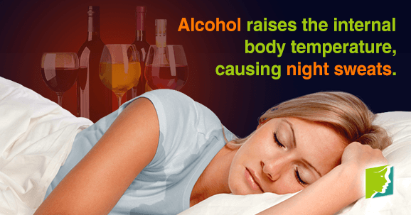 Alcohol Aggravates Night Sweats