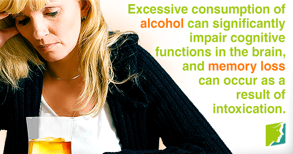 Excessive consumption of alcohol can cause memory loss