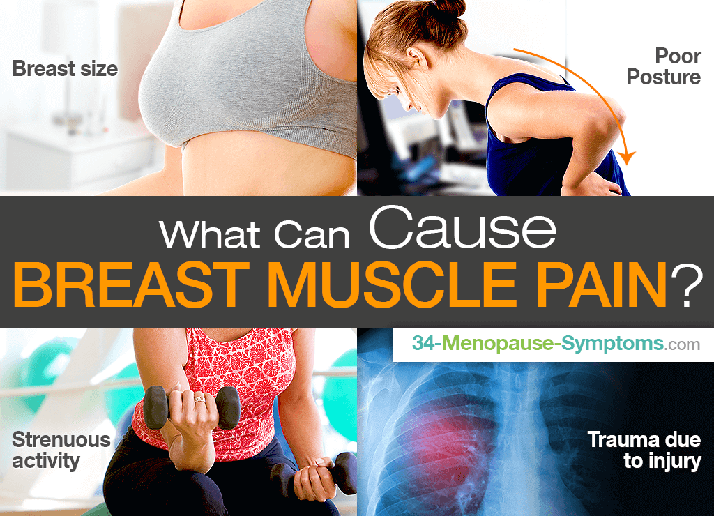 What can cause breast muscle pain?