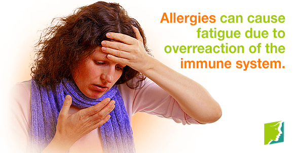 Allergies can cause fatigue due to overreaction of the immune system