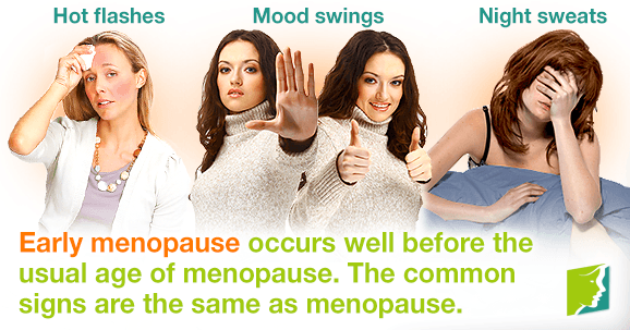 Am I too young to be experiencing menopause symptoms?