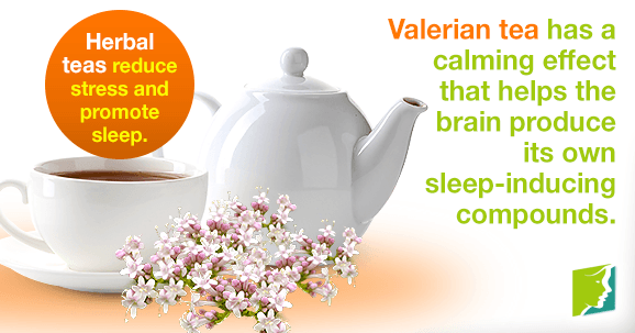 Herbal teas reduce stress and promote sleep