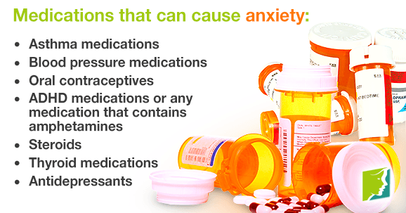 Medications that can cause anxiety