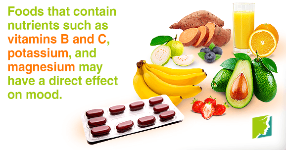 Foods with B and C vitamins, potassium and magnesium affects your mood