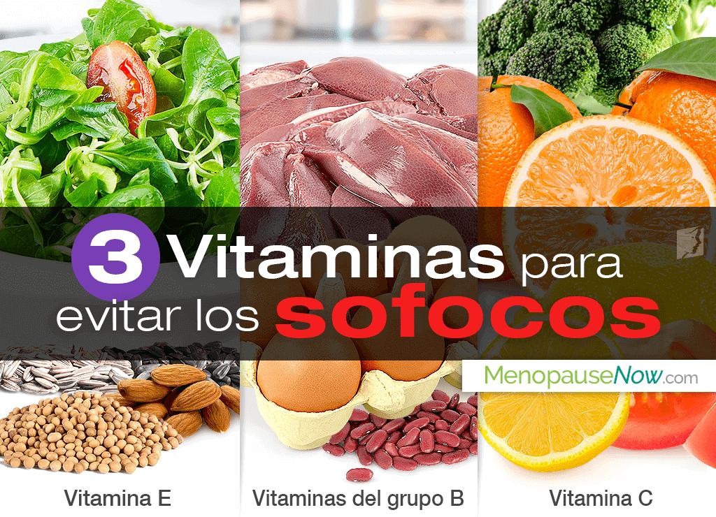 3 vitaminas para evitar los sofocos