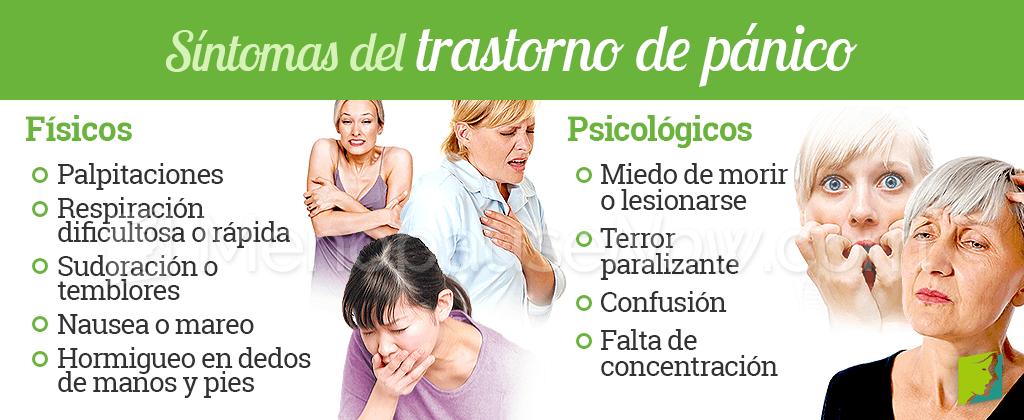 Síntomas de trastorno de pánico