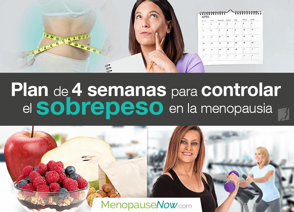 Plan de cuatro semanas para controlar el sobrepeso en la menopausia