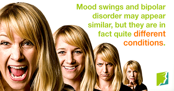 Mood swings and bipolar disorder may appear similar, but they are in fact quite different conditions