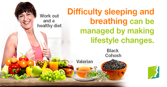 Difficulty sleeping and breathing can be managed by making lifestyle changes
