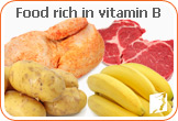 Food rich in vitamin B: deficiencies of iron and vitamin B have been associated with burning tongue