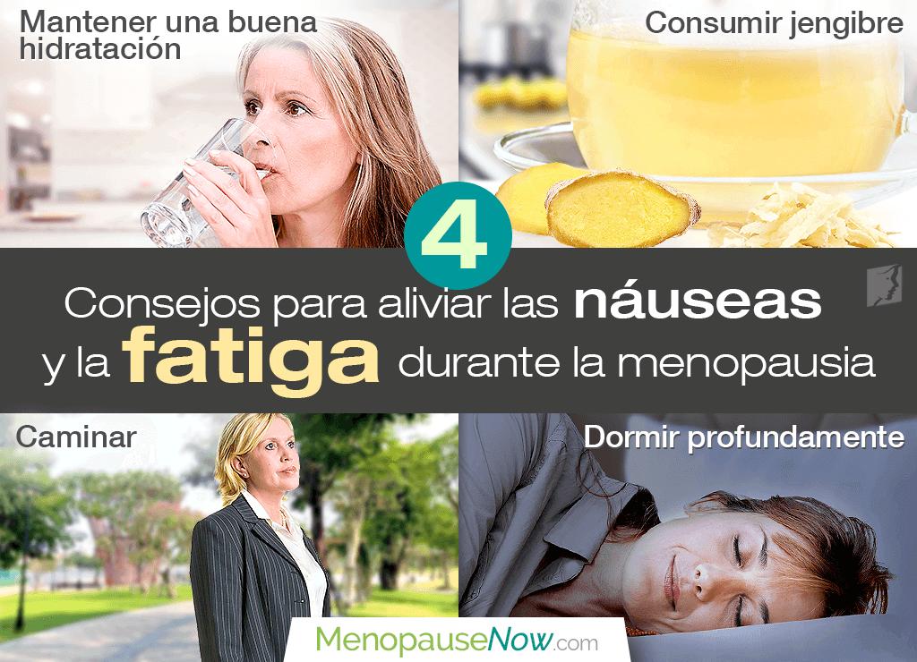 4 consejos para aliviar las náuseas y la fatiga durante la menopausia