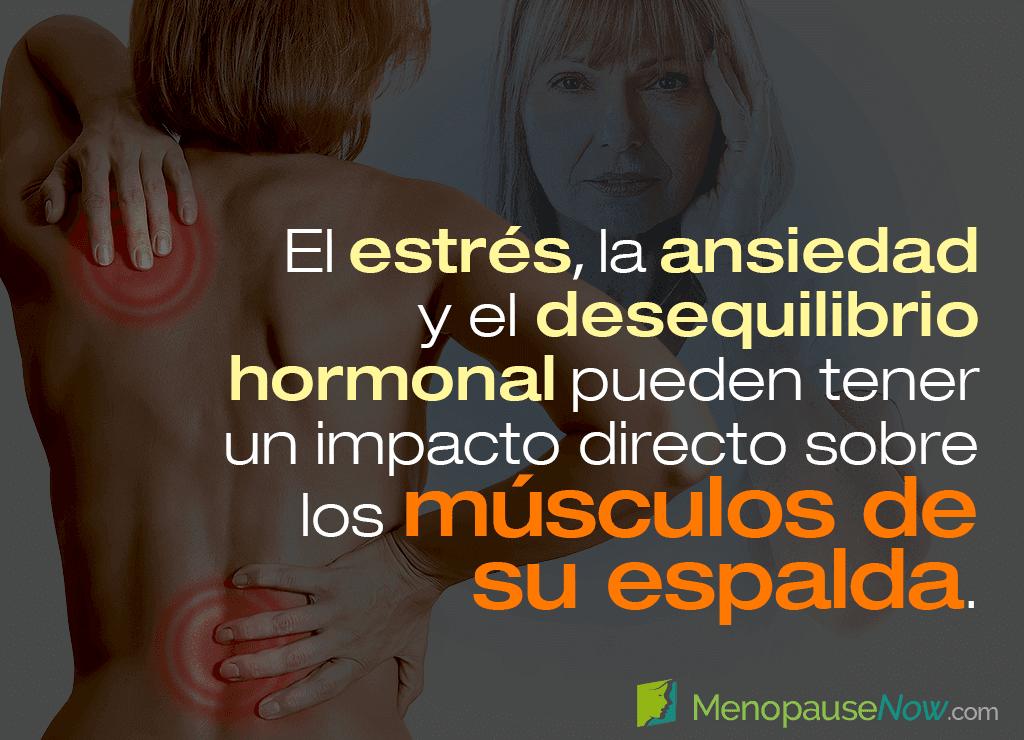 4 causas de tensión muscular de espalda en la menopausia