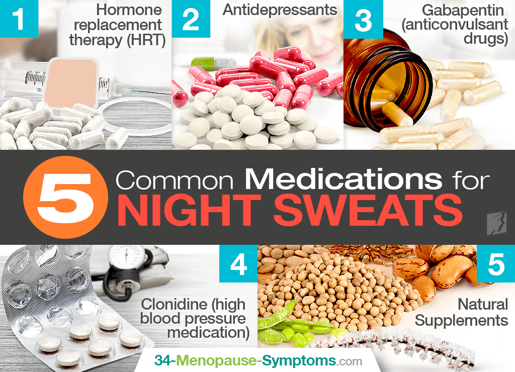 5 Common Medications for Night Sweats