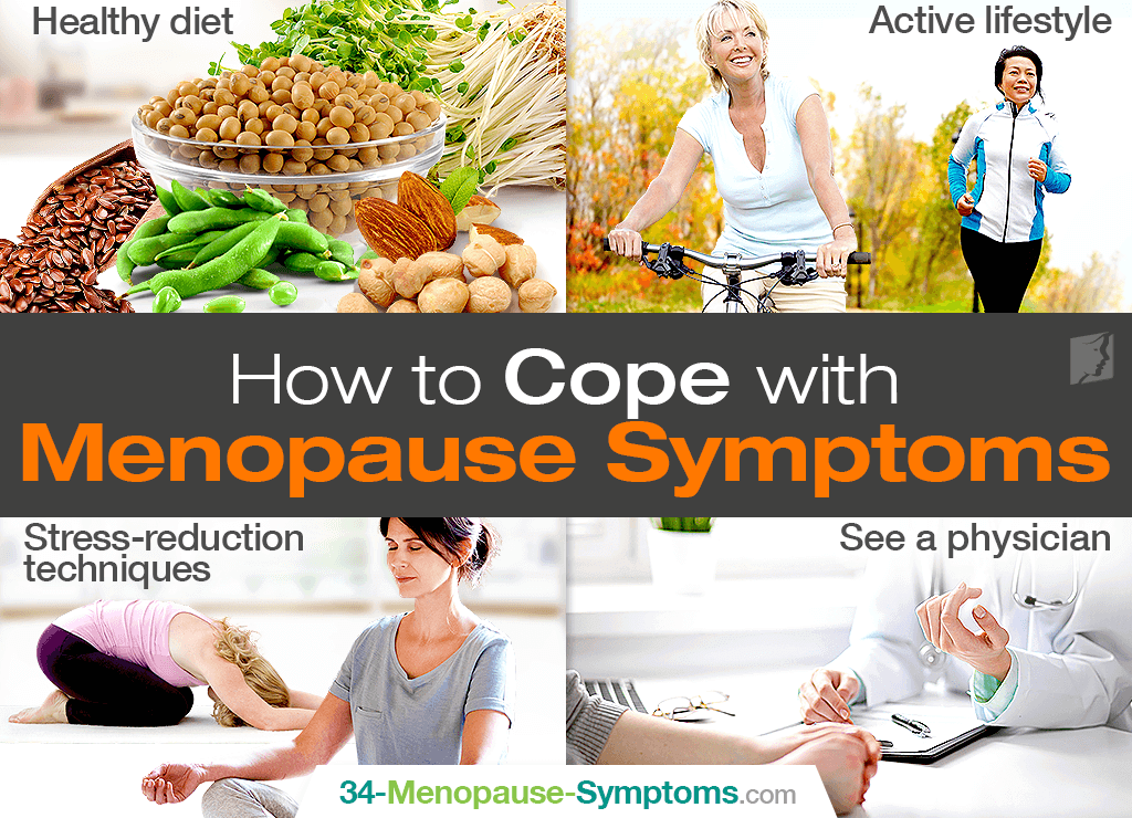 how to cope with common symptoms of menopause