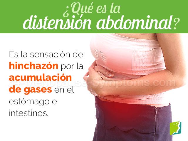 Qué es la distensión abdominal
