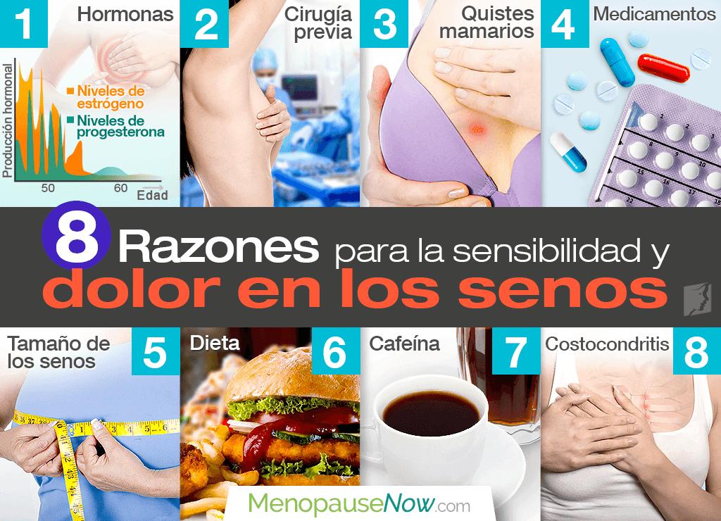 8 razones para la sensibilidad y dolor en los senos