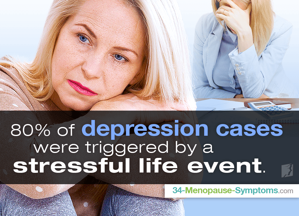 80% of depression cases were triggered by a stressful event