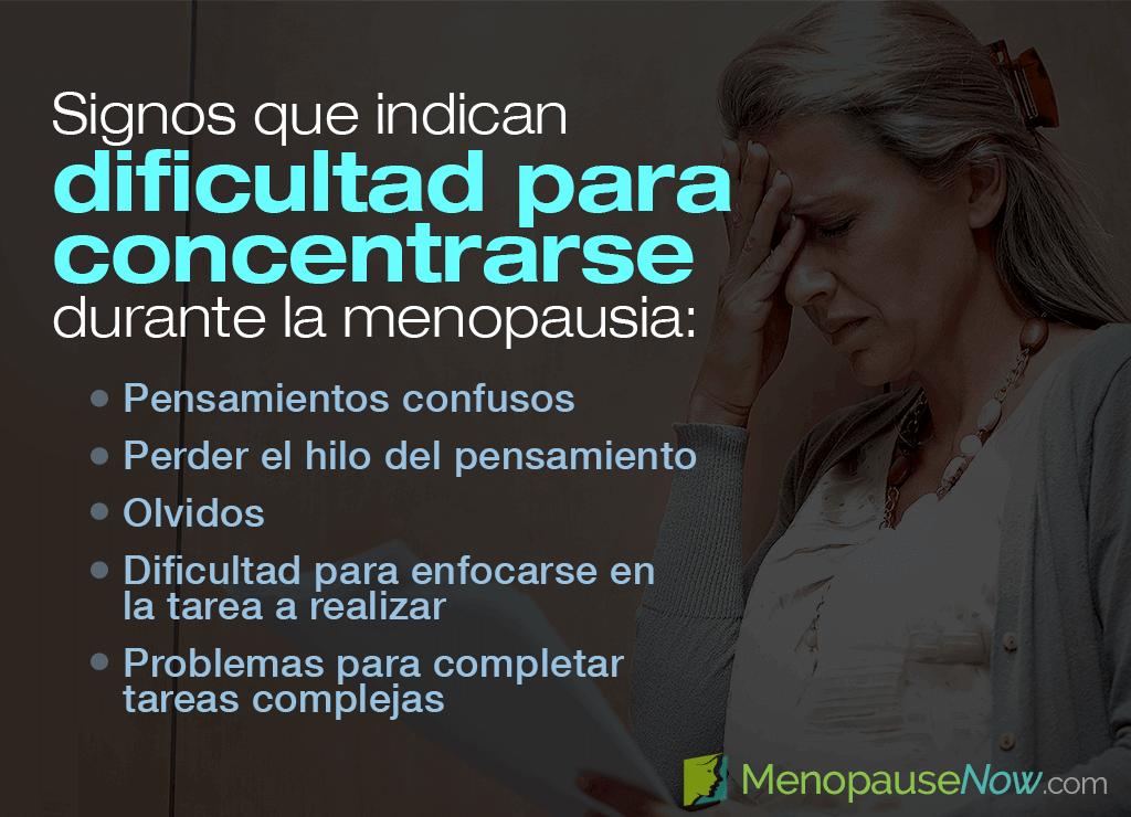 Cómo reconocer la falta de concentración en la menopausia