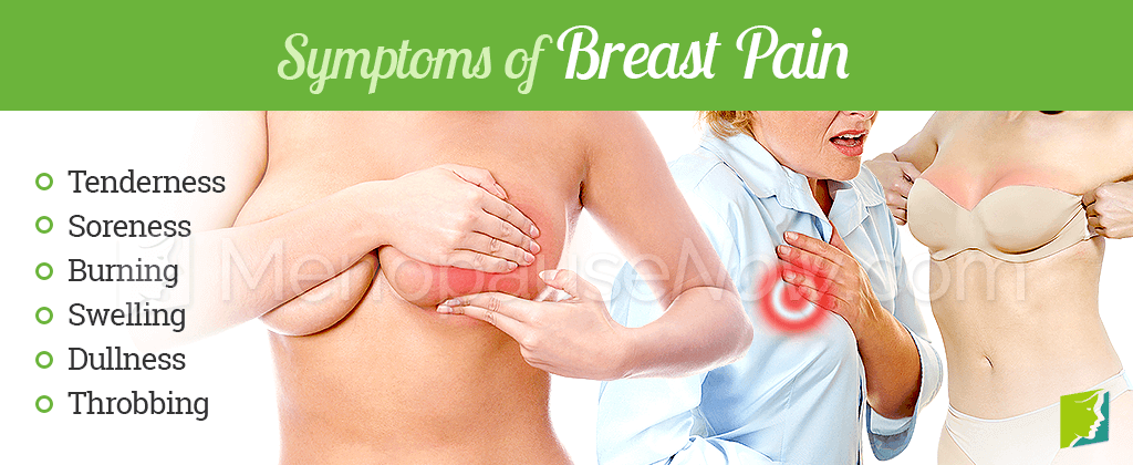 Symptoms of breast pain