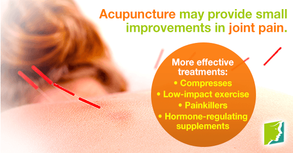 Acupuncture may provide small improvements in joint pain