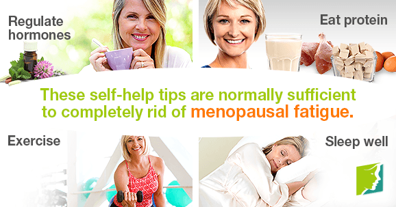 These self-help tips are normally sufficient to completely rid of menopausal fatigue.