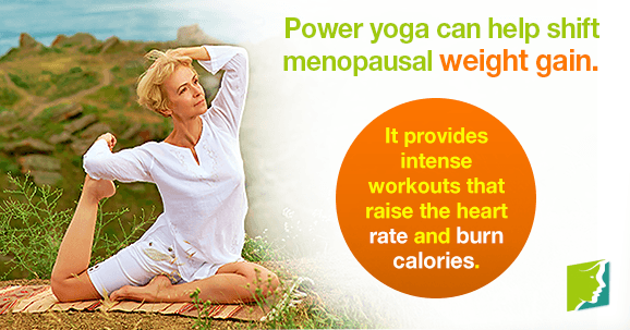 Power yoga can help shift menopausal weight gain