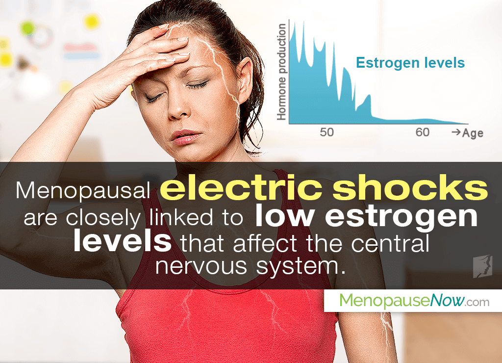 Low estrogen levels is a possible cause of electric shock feelings