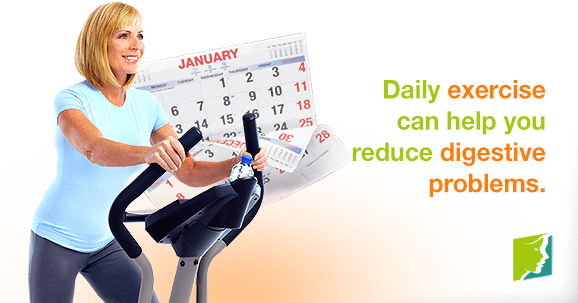 Daily exercise can help you reduce digestive problems.