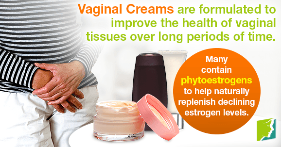 Vaginal Creams are formulated to improve the health of vaginal tissues over long periods of time.