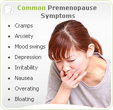 Common premenopause symptoms