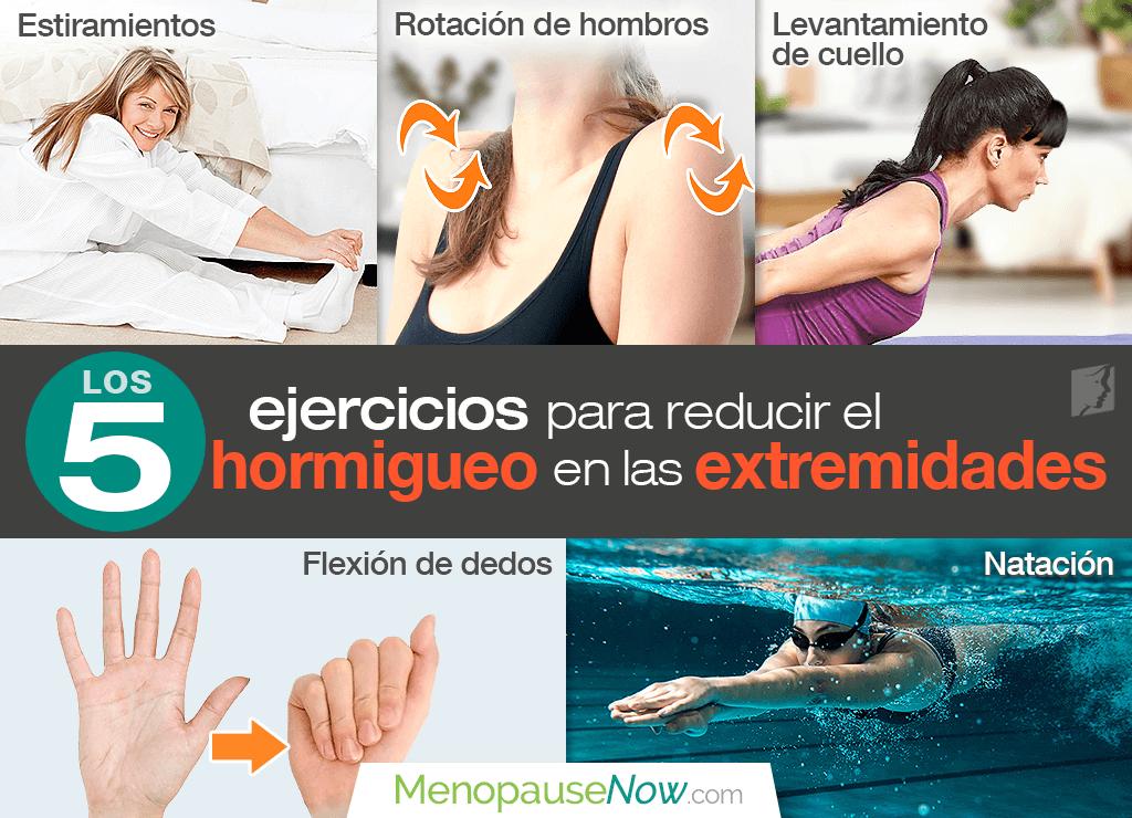Los 5 mejores ejercicios para reducir el hormigueo en las extremidades