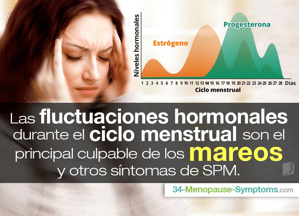 Las fluctuaciones hormonales durante el ciclo menstrual son el principal culpable de los mareos