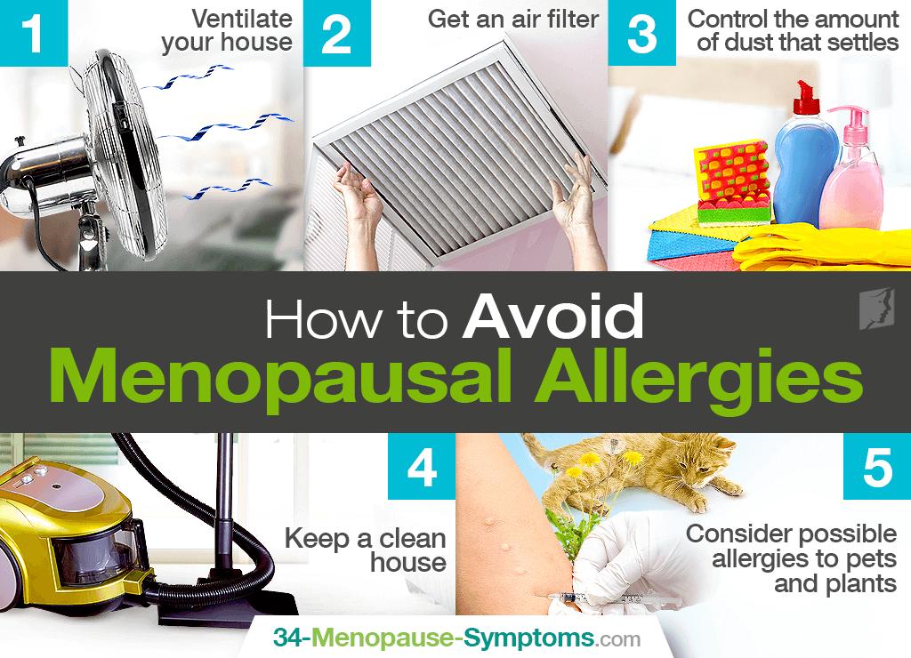 avoid menopausal allergies