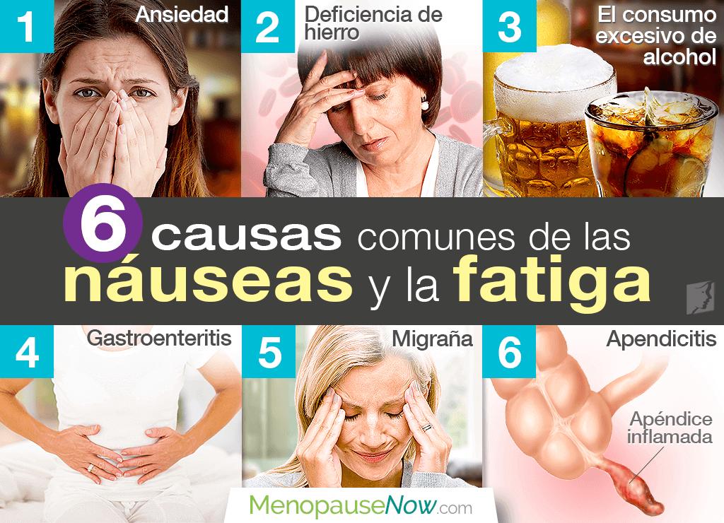 6 causas comunes de las náuseas y la fatiga