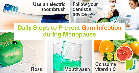 Daily Steps to Prevent Gum Infection during Menopause