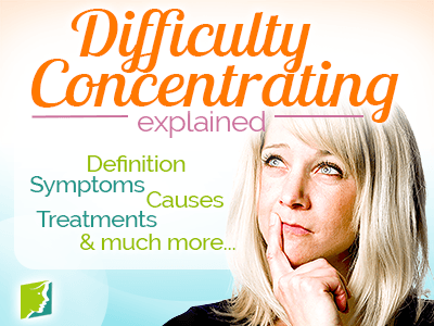 I am having trouble concentrating?