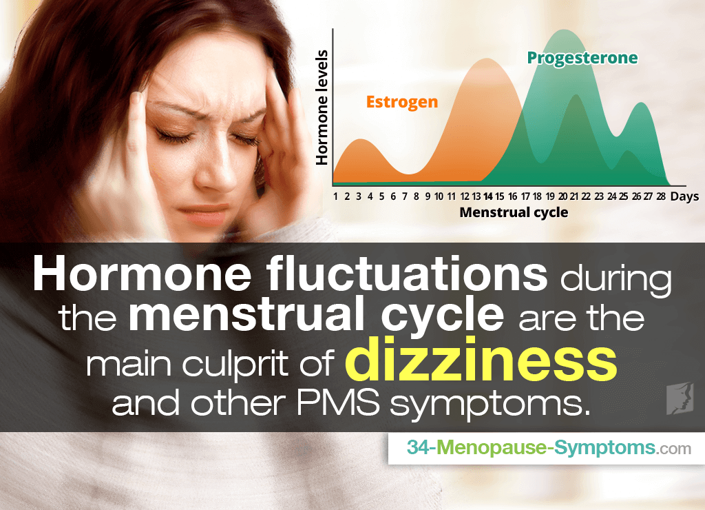 Hormone fluctuations during the menstrual cycle are the main culprit of dizziness and other PMS symptoms