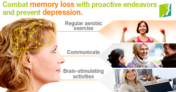 Combat memory loss with proactive endeavors and prevent depression