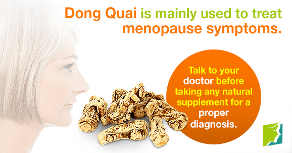 Dong quai is mainly used to treat menopause symptoms