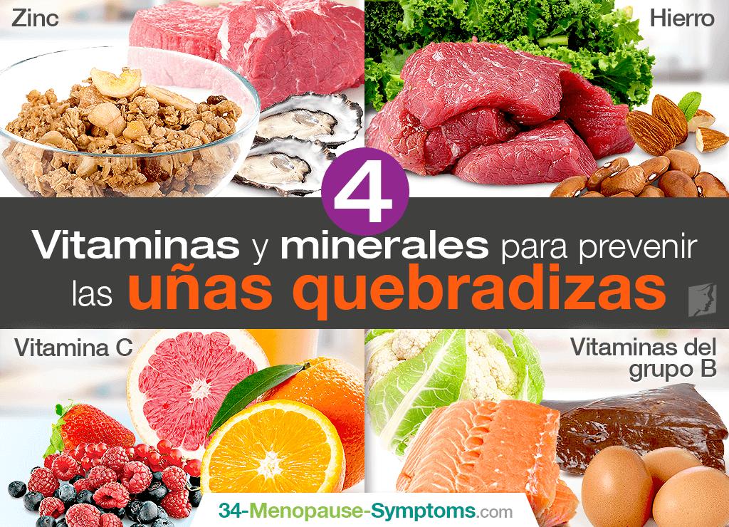 4 vitaminas y minerales para prevenir las uñas quebradizas
