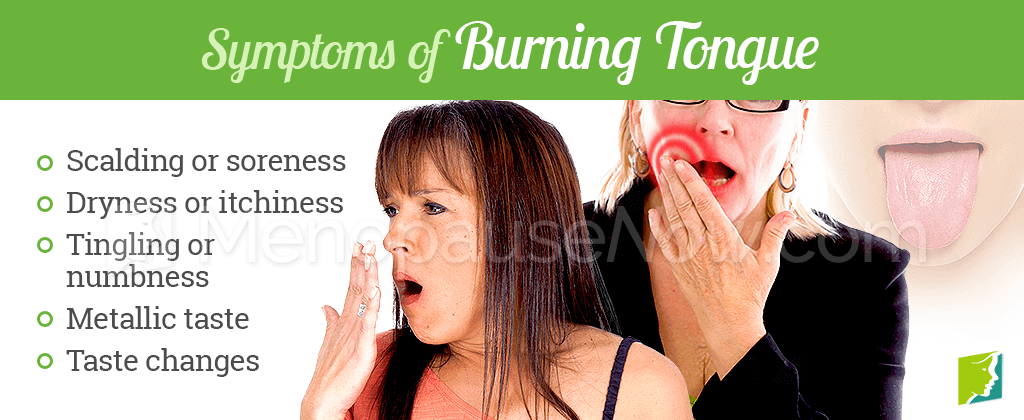 Symptoms of burning tongue