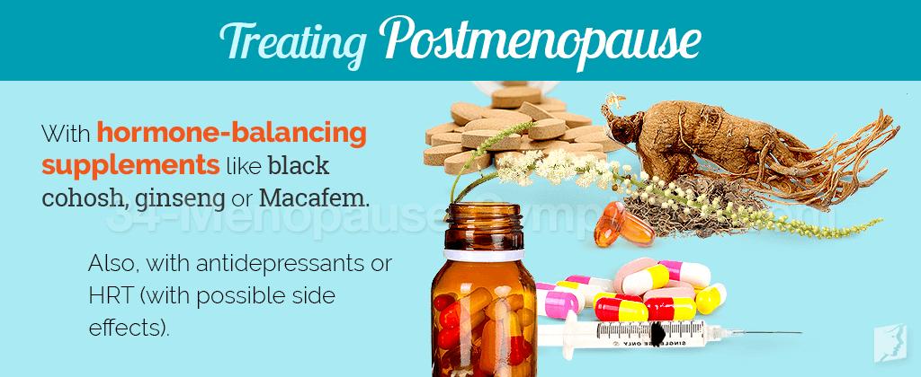 Treating postmenopause